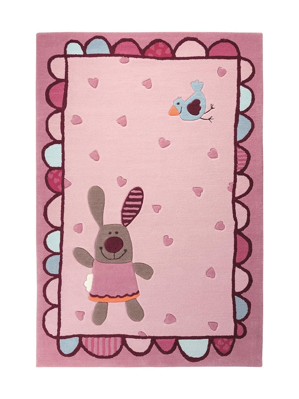 Kinderteppich sigikid  Amazon.de: Sigikid Kinderteppich 3 Happy Friends Hearts | rose ...
