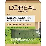 L'Oréal Paris Sugar Scrubs Gezichtsspeeling, zachte peeling met natuurlijke suikerkristallen en kiwi-zaden, vermindert poriën