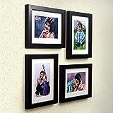 Ajanta Royal Classic Set of 4 Individual Photo Frames (4-6x8 Inch) : A-79A (Black)