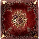 Embroidered satin table cloth , 2725108036567