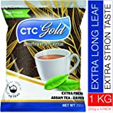 Ono Teas CTC Gold Strong CTC Tea Powder with Extra Long Assam Tea Leaves 1KG Pack (250 gm X 4)