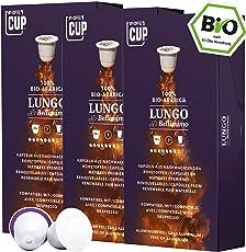 Bio Kaffeekapseln Nespresso kompatibel kompostierbar ohne Alu von My-CoffeeCup (Kaffee Lungo No. 2 Bellissimo, 30 Kapseln)