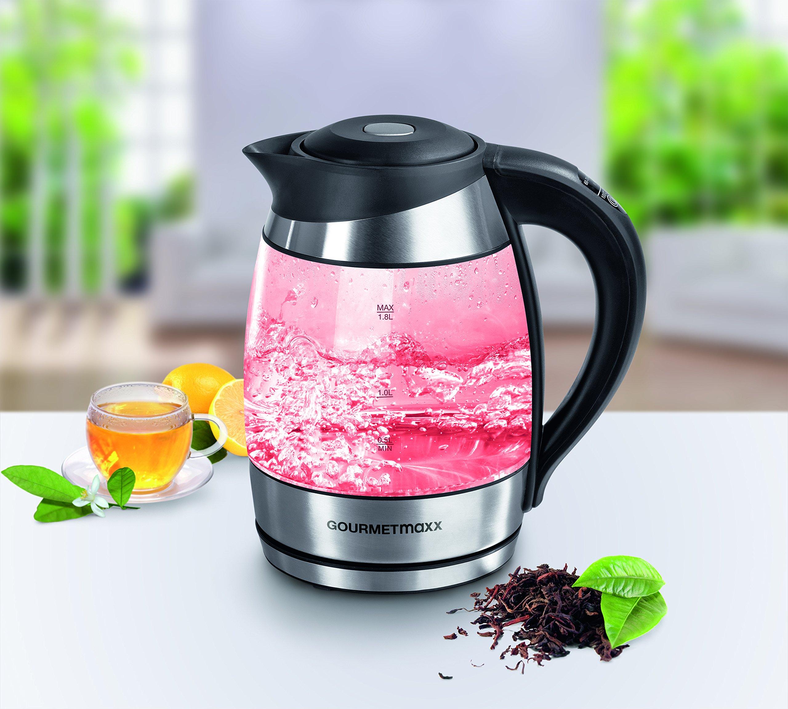 GOURMETmaxx-09861-LED-Glas-Wasserkocher-Mit-Innenbeleuchtung-Temperatureinstellung-BPA-Frei-Flaches-Heizelement-18-Liter-Fassungsvermgen-360-Grad-Edelstahl-Teekocher-Mit-LED-Farbwechsel-Schwarz