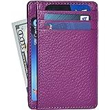 Amazon Brand - Eono Mens Wallet Small & Compact Design Genuine Leather Wallets for Men & Women - RFID Blocking Super Slim Min