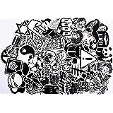 240 st. klistermärken svartvita graffitidekaler klistermärken för bil skateboard resväska motor/cykel Boot Computer/Laptop/su