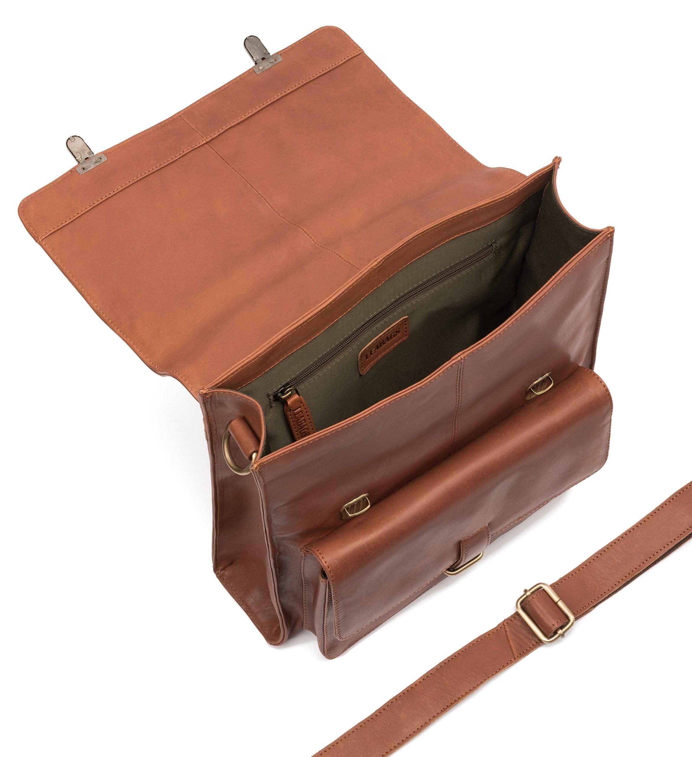 91rhNDR%2Bz8L - LEABAGS Lille maletín de auténtico Cuero búfalo en el Estilo Vintage
