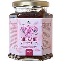 Vanalaya Natural Organic Gulkand Prepared Using Damask Rose Enhanced with Cardamon -300 Grams