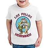 Los Pollos Breaking Walter Crystal Camiseta para Niños T-Shirt Bad Meth White TV Serie