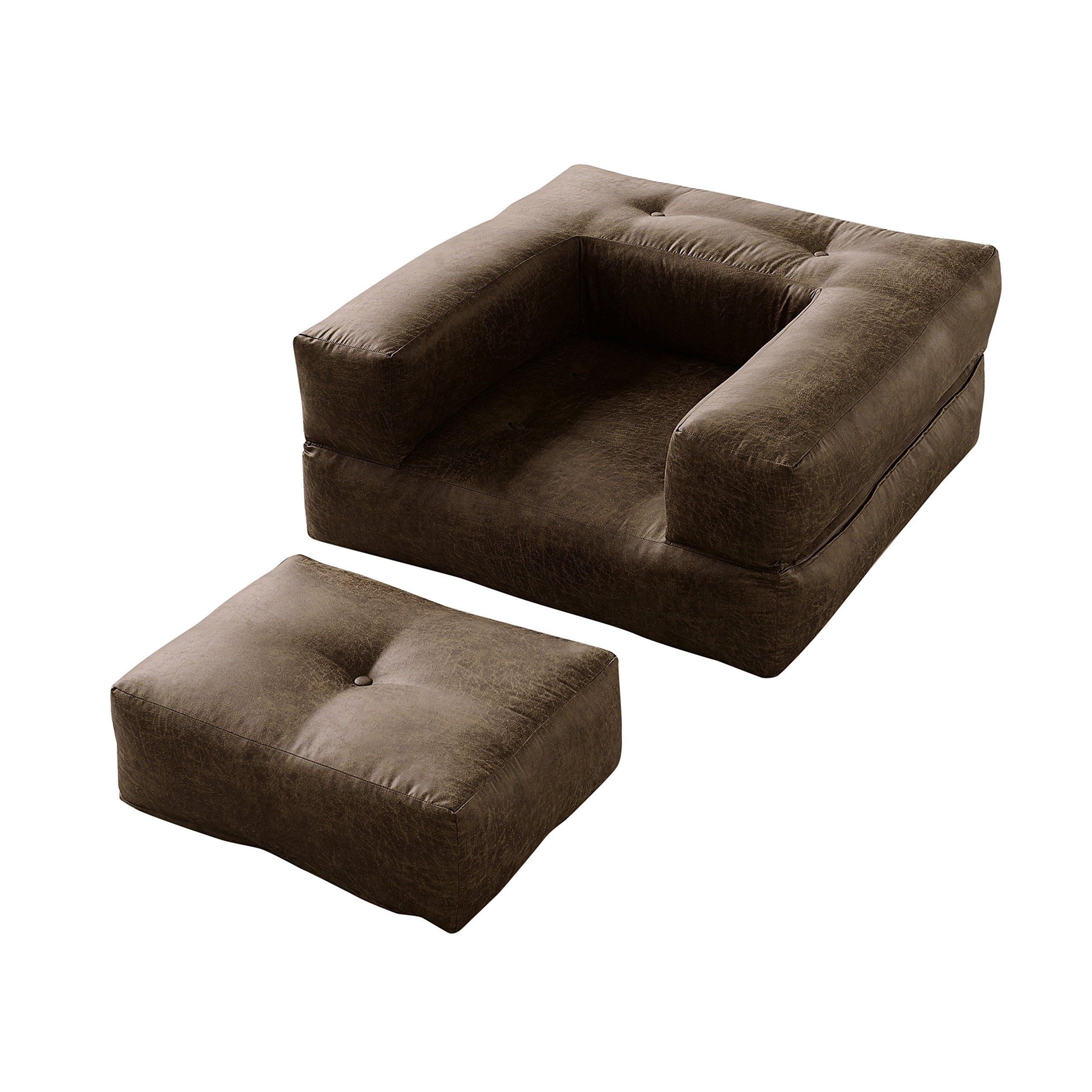 Karup Cube Chair Sedia, Cottone/Poliestere, Choco 502, 95 x 90 x 50 cm