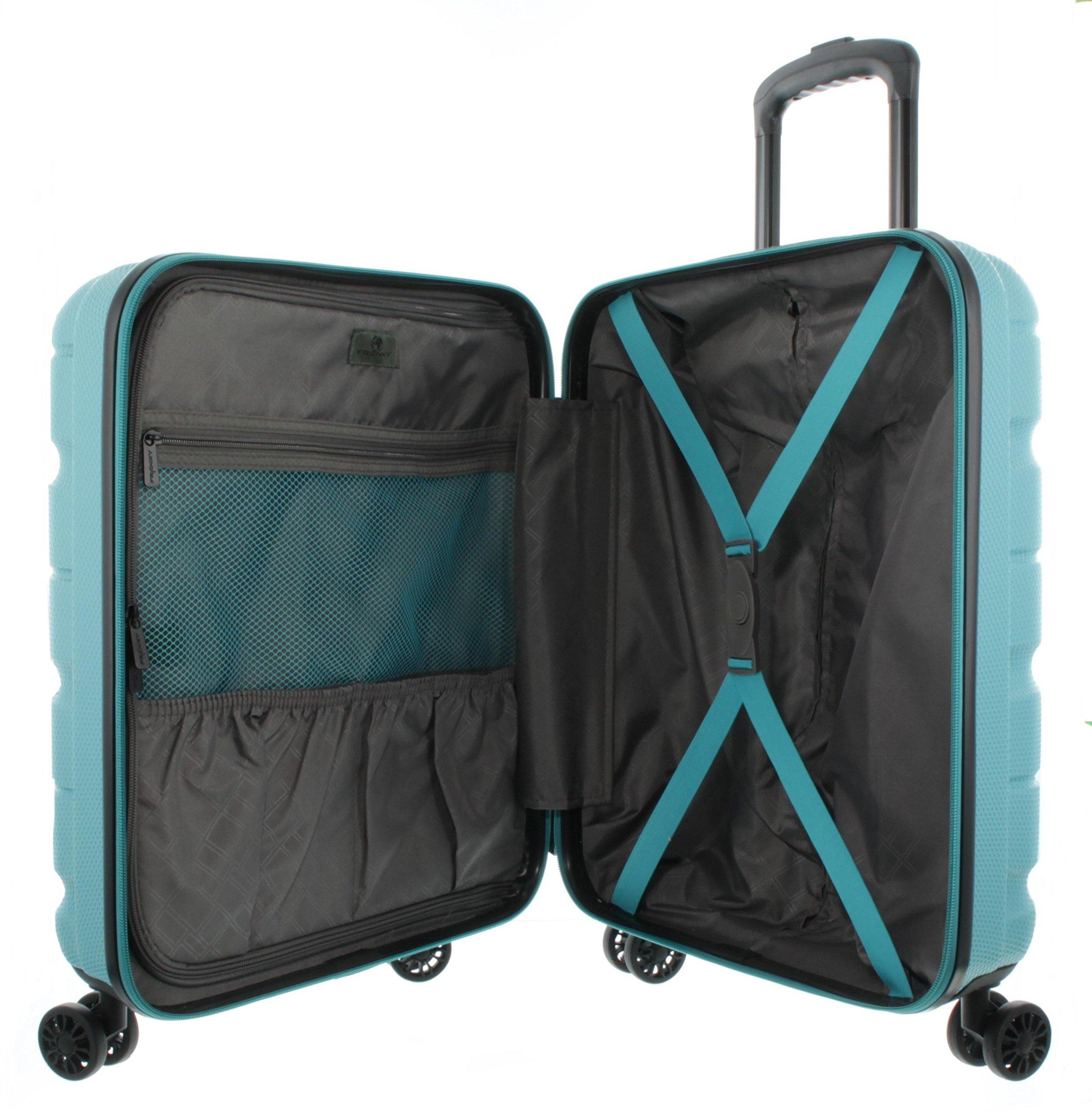 Franky-4er-Kofferset-Hartschalenkoffer-Spnner-mit-TSA-Schloss-Aqua