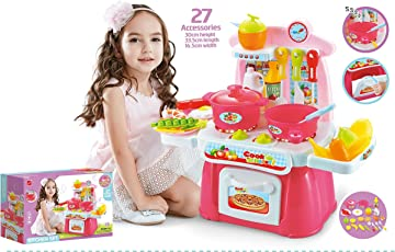 Toyshine Kitchen Set Cooking Toy with, Accessories, Music and Lights