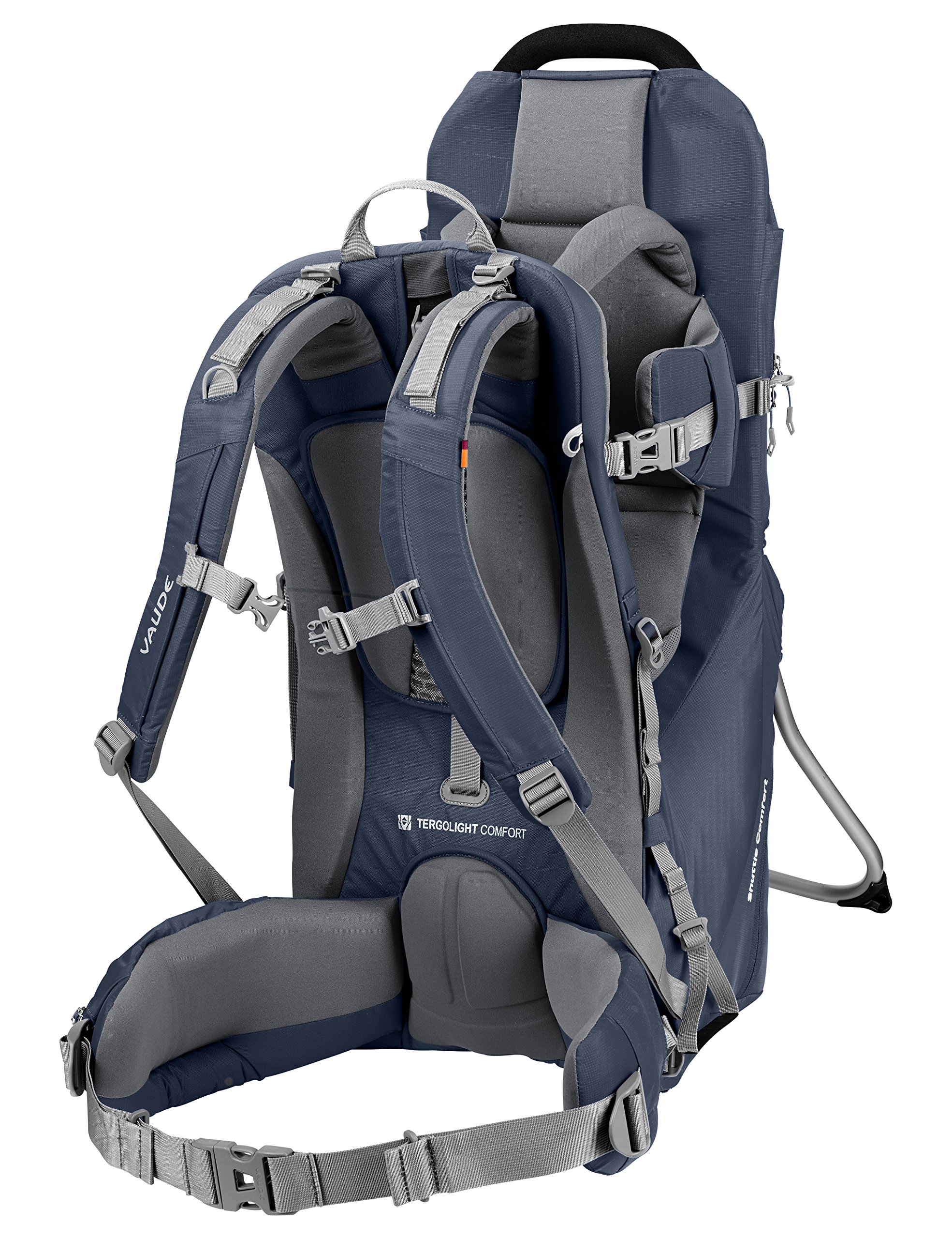 Vaude Shuttle Comfort Carrier Vaude Individually adjustable supportive back Adjustable seat height, torso support Separate bottom compartment, stowage compartment with zip 2