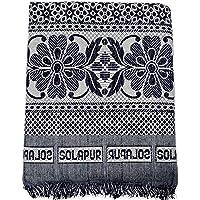 TheOne Solapur Chaddar Cotton Blanket, 5 X 7.5ft, Blue