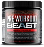 Pre Workout Beast (Berry Flavour) - Hardcore pre-Workout Supplement with Creatine, Caffeine, Beta-Alanine and Glutamine…