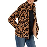 Amazon Essentials - Polar Fleece Lined Sherpa Full-zip Jacket, fleece-outerwear-jackets Donna
