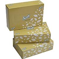 SCOTT® Facial Tissue Box 60043 - 2 ply Flat Box Facial Tissue - 3 Tissue Boxes x 100 Face Tissues - Sheet Size 15.7 x 21…