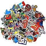 Neuleben Sticker Pack 100-Pcs Adesivi Stickers Vinili per Computer Portatile, Bambini, Automobili, motociclette…