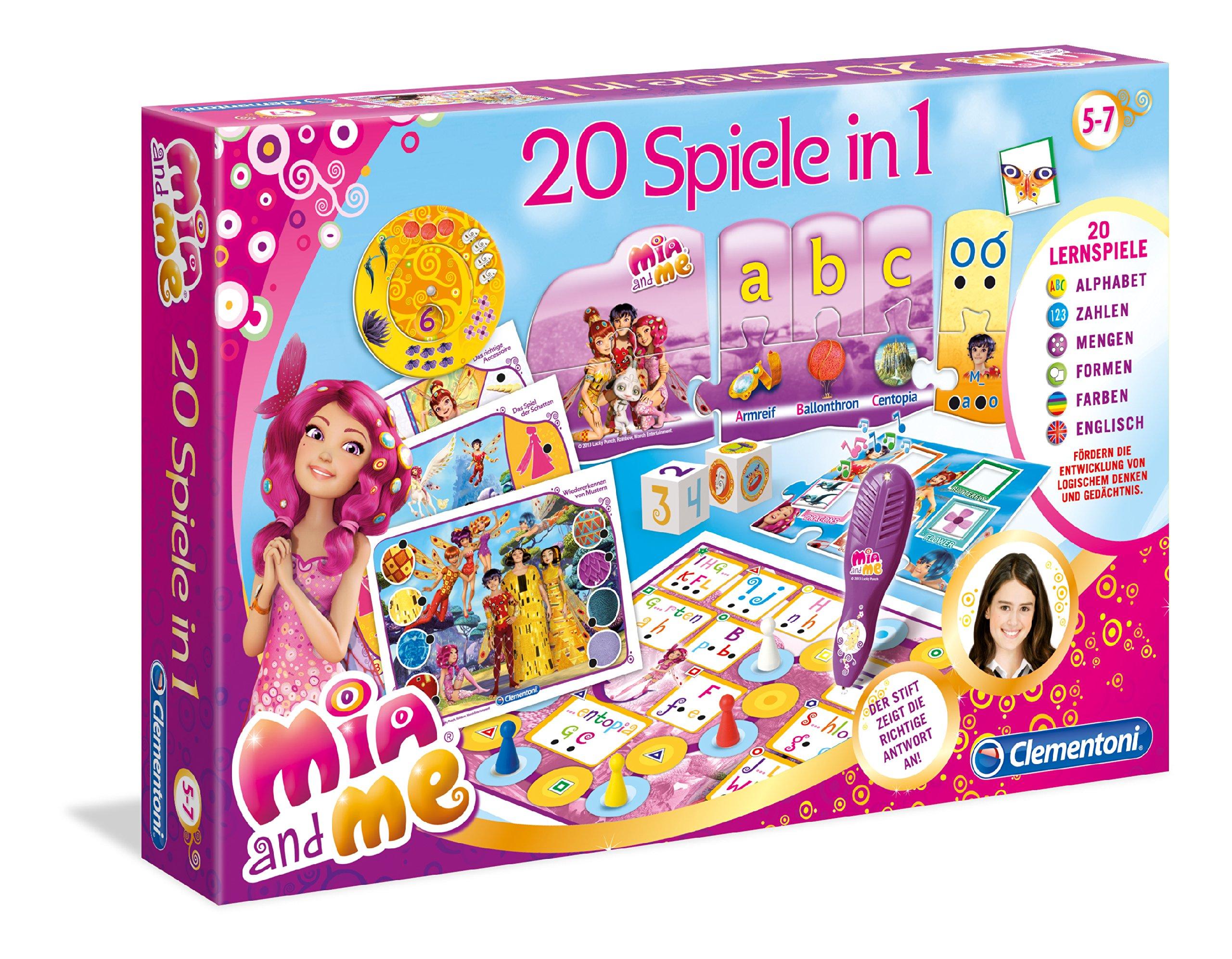Clementoni-691821-20-Spiele-in-1-Mia-und-me Clementoni 69182.1 – 20 Spiele in 1 – Mia und me -