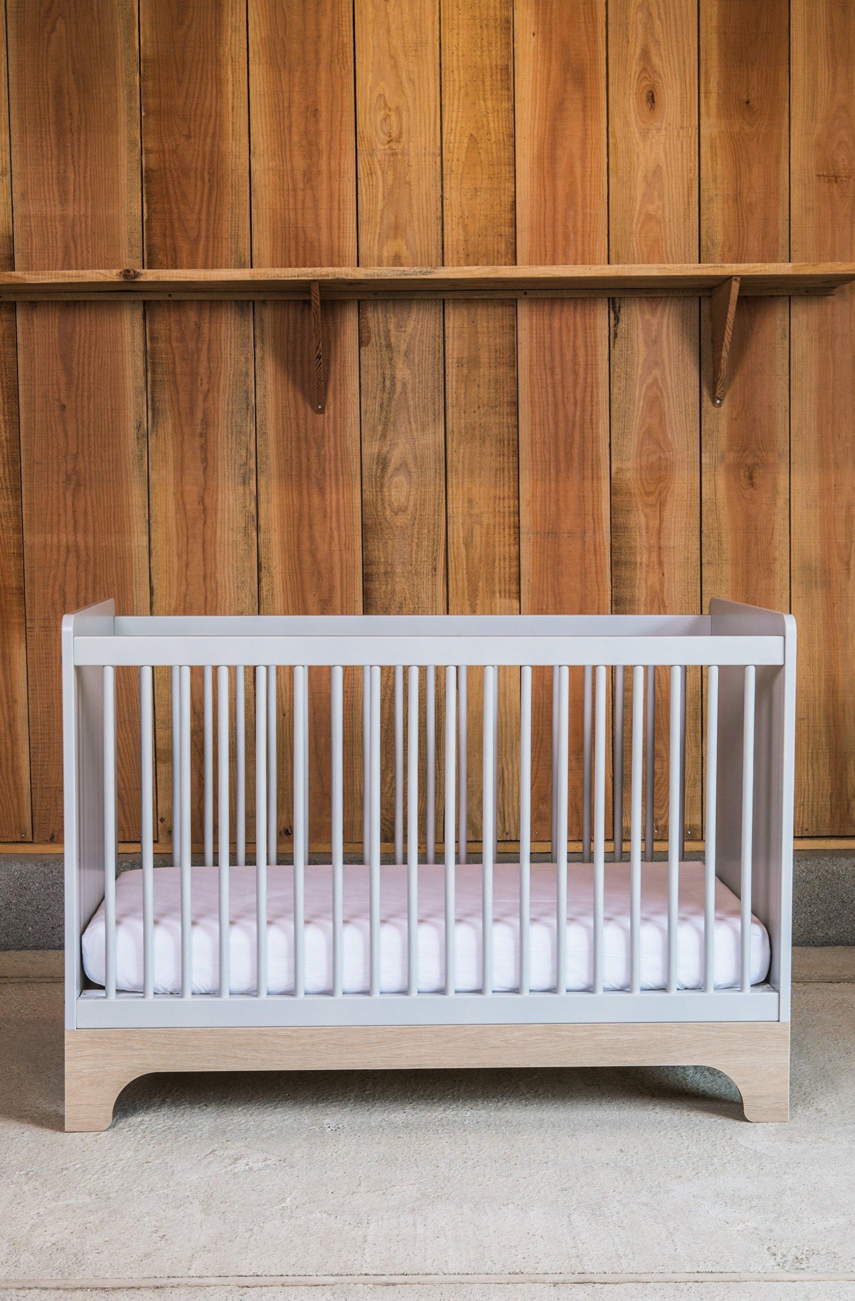 Kadolis Calvi Convertible Bed - 70 x 140 cm Gris claro/Madera   2