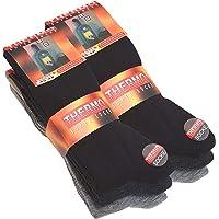 6 paia di calze termiche da uomo in spugna, tinta unita