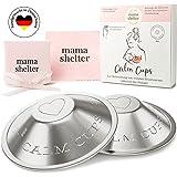 mama shelter® Stillhütchen MADE IN GERMANY - Silberhütchen stillen 999 Feinsilber - Soforthilfe für wunde Brustwarzen - Brust