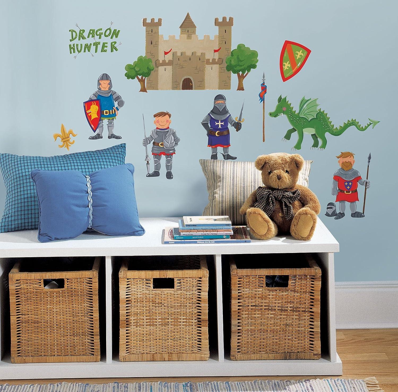 Kinderzimmer junge ritter  RoomMates - Wandsticker Mini-Ritter 24 Stück: Amazon.de: Baumarkt