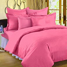 Ahmedabad Cotton Premium Sateen Striped Bedsheets