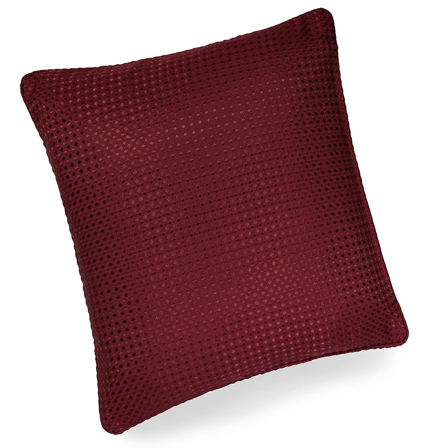 Impressions Waffle Red Piped 17in 43x43cm Cushion Cover Amazoncouk Kitchen Home