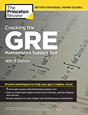 Cracking the GRE Mathematics Subject Test (Graduate School Test Preparation)