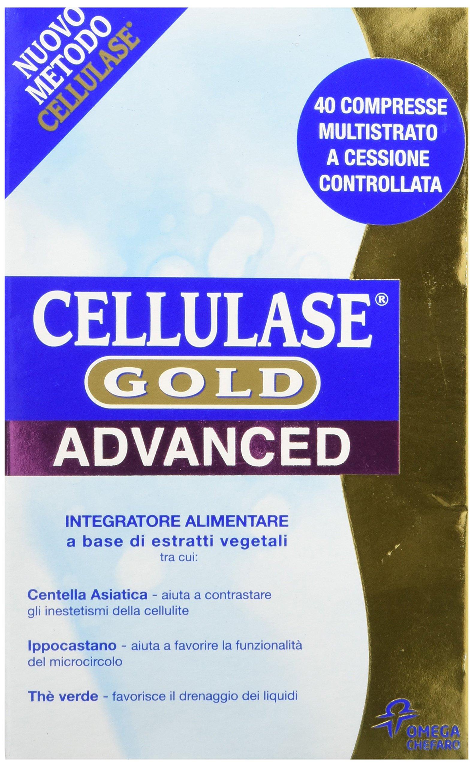 Chefaro Pharma Gold Advance Integratore Alimentare Cellulase, 40 Compresse Multistrato 1 spesavip