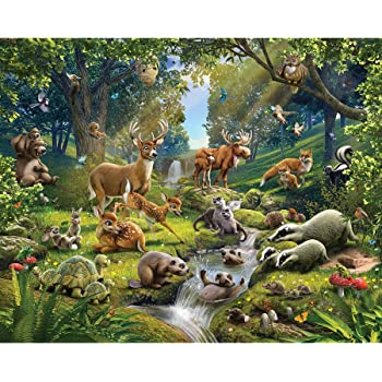 Walltastic Animals Of The Forest Wallpaper Mural Multi Colour