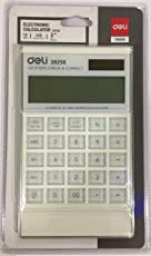 Deli Calculator - Touch Calculator - Big Keys - 12 Digit - 120 step check - 2 years replacement warranty - Dual Power - Smart Design