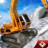 Schneepflug Winter Simulator Bagger Fahrer 3D: Schwere Schnee Bagger Kran Echte Fahrer Rescue Abenteuer Überleben Mission Spiele kostenlos für Kinder 2018