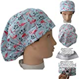 Scrub hat theatre cap. PINK FLEMISH for Long Hair with sweatband ajutable to your liking. Handmade. Doctor, Surgery…