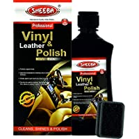 SHEEBA Leather Vinyl Polish for Car Interior Exterior Plastic Rubber Parts Leather Shiner Conditioner 200 ml (SLVOM0371)