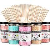Misskandy, sucre barbe à papa pour machine/ lot de (5*300Gr)= 1,5kg/ arômes:Fraise, Pomme, Marshmallow, Cola, Framboise/ poud
