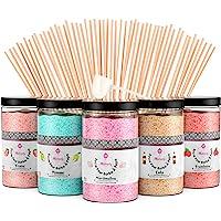 Misskandy, sucre barbe à papa pour machine/ lot de (5*300Gr)= 1,5kg/ arômes:Fraise, Pomme, Marshmallow, Cola, Framboise…