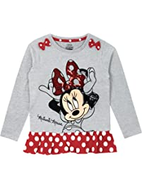 Disney Topolina - Maglietta a Maniche Lunga - Minnie Mouse - Ragazza