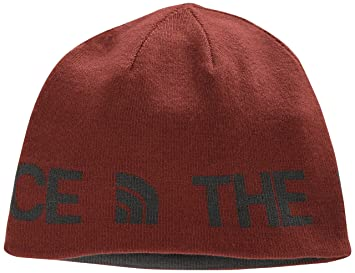 The North Face Reversible TNF Banner Beanie - Brick House Red, One Size