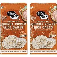 Wise Crack Organic Big Size Rice Cakes Quinoa Power Whole Grain Puffed Cracker, Crispy Healthy Snacks (105 gm Each…