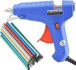 OKASTA 40W I I With 10 Glitter Glue Sticks Hot Melt Glue Gun Kit OK134 For Art and Crafts, Diy, Kirigami, Paper, PCB, Plush Toys, Crafts, Wood, Box, Professional hi -tech Electronic