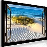 Images toile 160 x 90 Image Fenêtre Mers du Sud terminé sur cadre Peintures murales 1164
