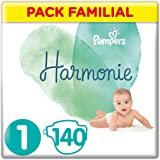 Pampers - Harmonie - Couches Taille 1 (2-5 kg) - Pack Familial(140 couches)