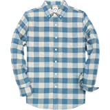 Dubinik® Männer Lange Ärmel Flanellhemden Western Fleece Button Down Shirts Freizeithemd Normale Passform