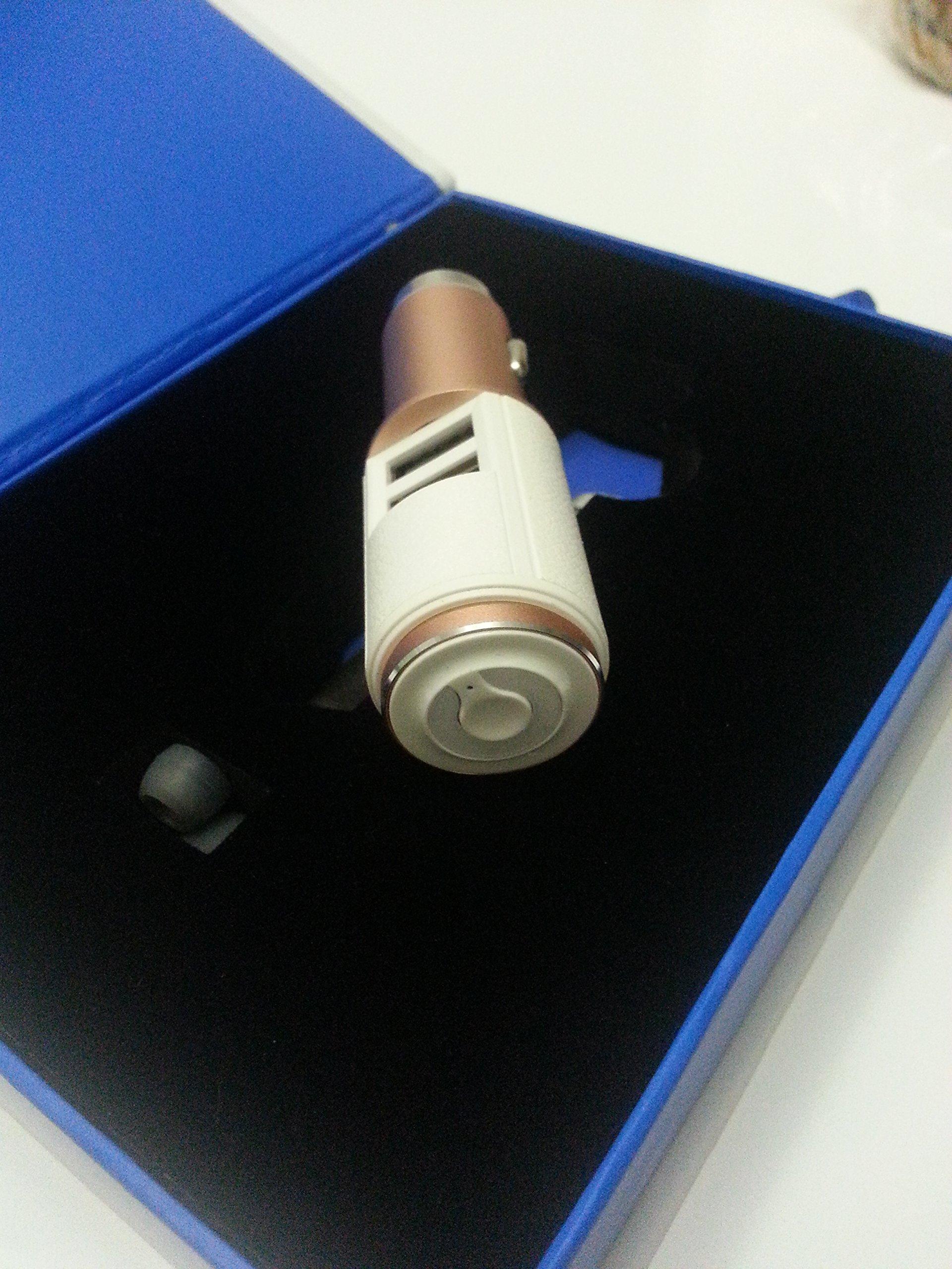 AUKEY-Bluetooth-V40-Empfnger-fr-KFZ-Auto-mit-Stereo-35-mm-Aux-3-Port-USB-Autoladegert