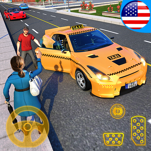 Sports Car Crazy Taxi Driver 2019: Yellow Cab London Car Driving Simulator  Games for Kids - FREE