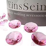 EinsSein 100x Funkelnde Diamantkristalle 12mm rosa Dekoration Dekosteine Diamanten Funkelnde Diamantkristalle Streudeko Konfetti Tischdeko Hochzeit