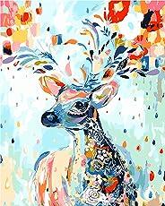 DIY Digital Leinwand-Ölgemälde Geschenk für Erwachsene Kinder Malen Nach Zahlen Kits Home Haus Dekor - FlowerDeer 40*50 cm