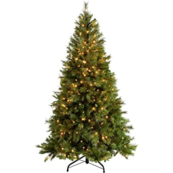 29e31776f1da 6ft (1.8m) Victorian Pine Pre-Lit Christmas Tree with 400 Warm White LED  Lights with Easy Build Hinged Branches
