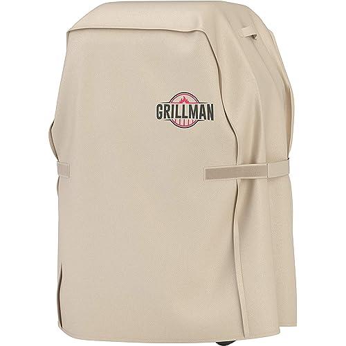 Grillman Premium Copertura per Barbecue, Copertura per Barbecue a Gas per Weber, Brinkmann, Char Broil ETC. Resistente agli Urti, ai Raggi UV e all'Acqua (30 inch / 76 cm, Marrone Chiaro)
